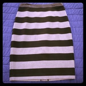 NWT Pencil skirt with faux leather waist